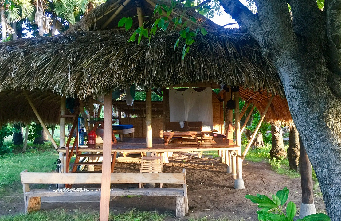 Bamboo Beach Hut - Front View